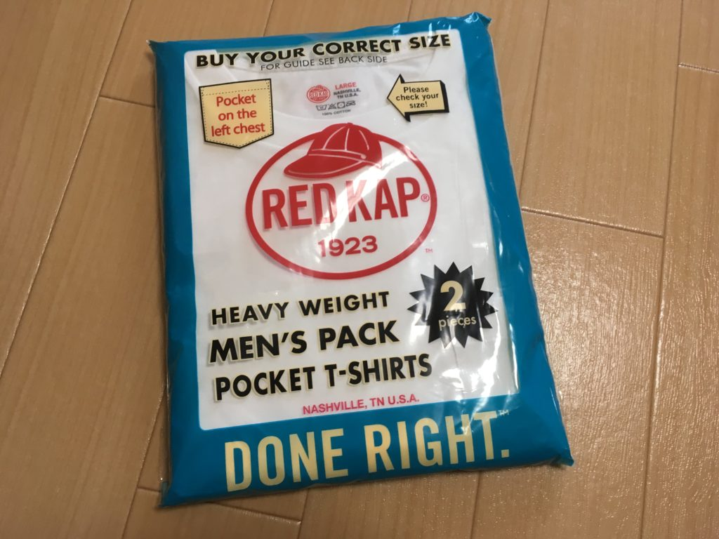 redkapパックTシャツ 洗濯後の縮み・サイズ感・Hanesとの比較について